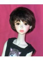 Kemper Nikki Short Medium Brown SD Size 8-9 Doll Wig
