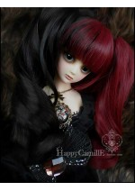 Red and Black Split Happy Camille Size 8-9