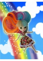 Happy Camille Pastel Rainbow Wig Size 8-9