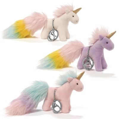 Unicorn Rainbow Poof Tails Keychain