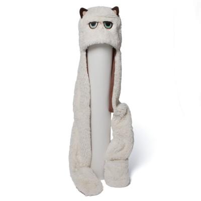 "Grumpy Cat Scarf Hat 36"""