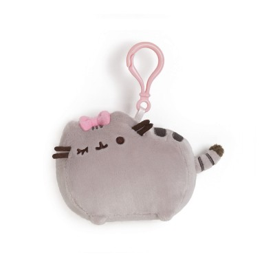 Pusheen with Bow Clip 4.5 in