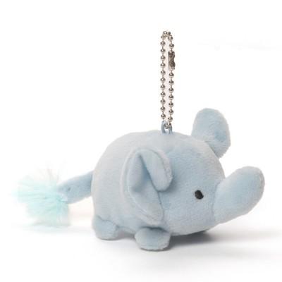 Pippz Keychain Blue Elephant Plush