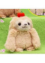 Namakemono no Mikke 6'' Tan Sloth with Apple Amuse Prize Plush