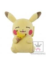 Pokemon 10'' Pikachu Eating Pikachu Ice Cream Banpresto Prize Plush