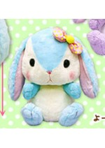 Pote Usa Colorful 15'' Blue w/ Bow Bunny Amuse Prize Plush