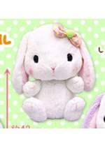 Pote Usa Colorful 15'' White w/ Bow Bunny Amuse Prize Plush