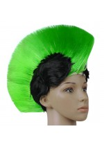 Green and Black Mohawk Wig