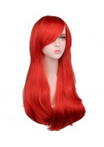 Long Costume Wig Hot Pink, Blond and Red Available