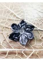 Kanzashi Hair Accessory - Black, White and Gray Colors