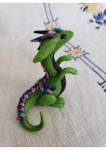 KumoriYori Creations Green Flower Petal Dragon