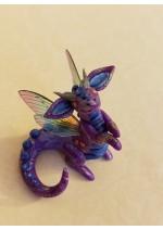 KumoriYori Creations Dark, Glittery Purple Dragon